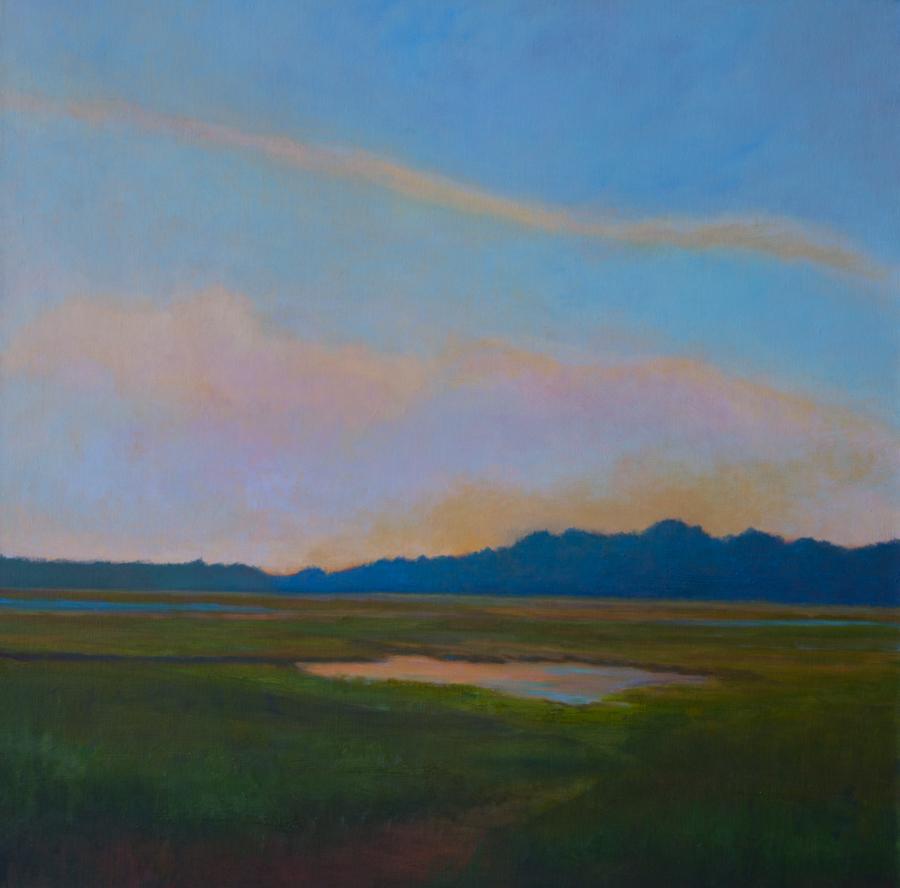"Gratuitous Sky - Oil on Canvas, 30 x 30"","