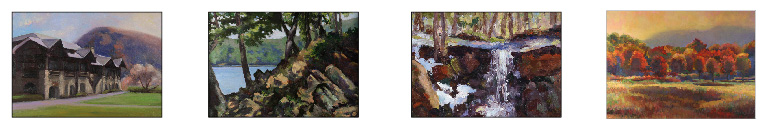 4 paintings of Bear Mountain, New York by janet Howard-Fatta
