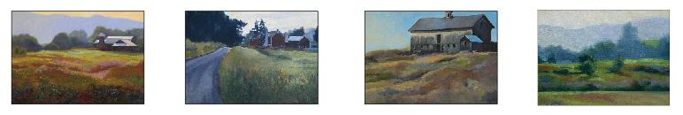 4 paintings of Warwick New York
