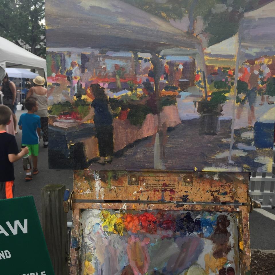 Warwick Valley Farmers Market Plein Air Painting